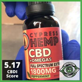 Cypress Hemp CBD+Omegas Full Spectrum Extract 1800mg CBD Review