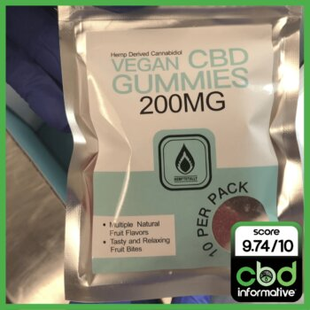 Hemp Totally Hemp Derived Cannabidiol Vegan CBD Gummies Review 200MG