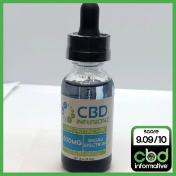 CBD Infusionz Broad Spectrum Hemp Oil CBD Tincture Review