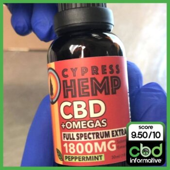 Cypress Hemp CBD+Omegas Full Spectrum Extract 1800mg CBD Informative Review