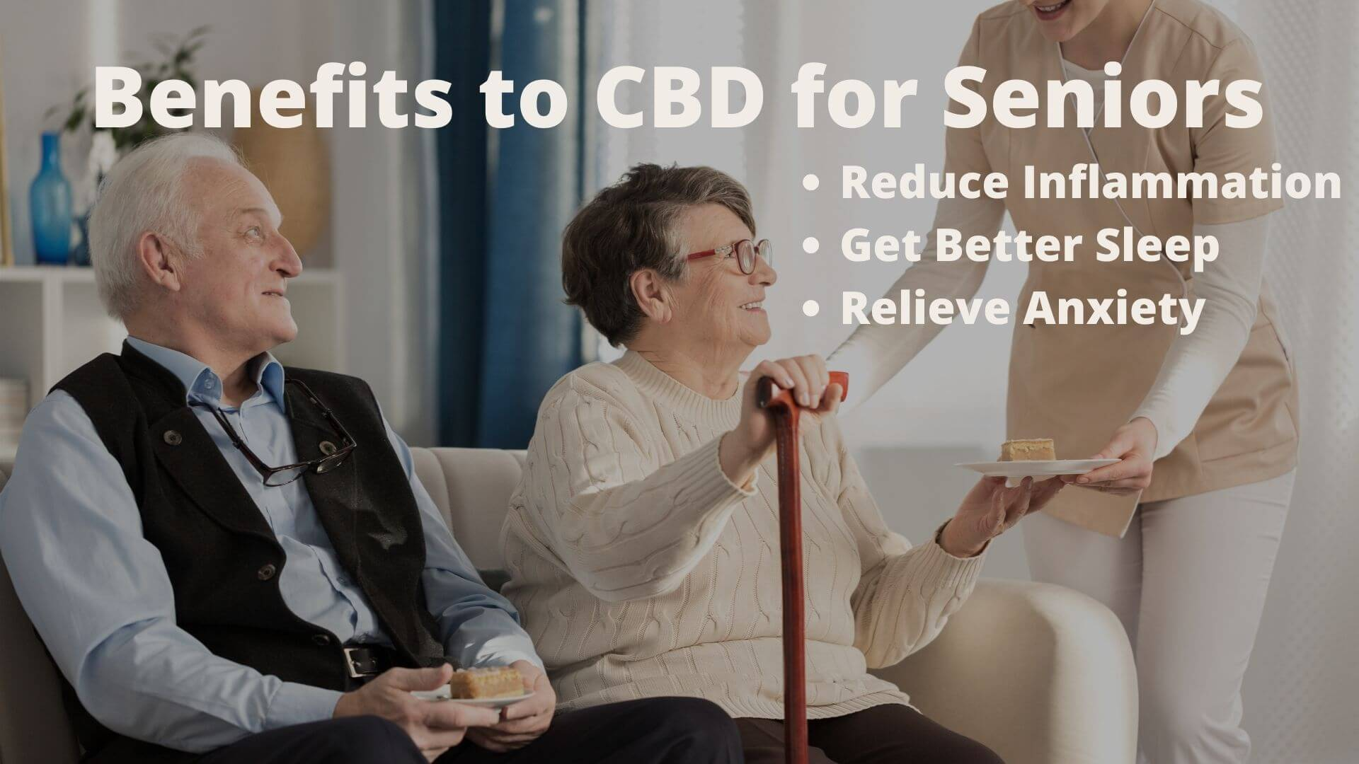Two Seniors learning about the benefits to CBD for Seniors